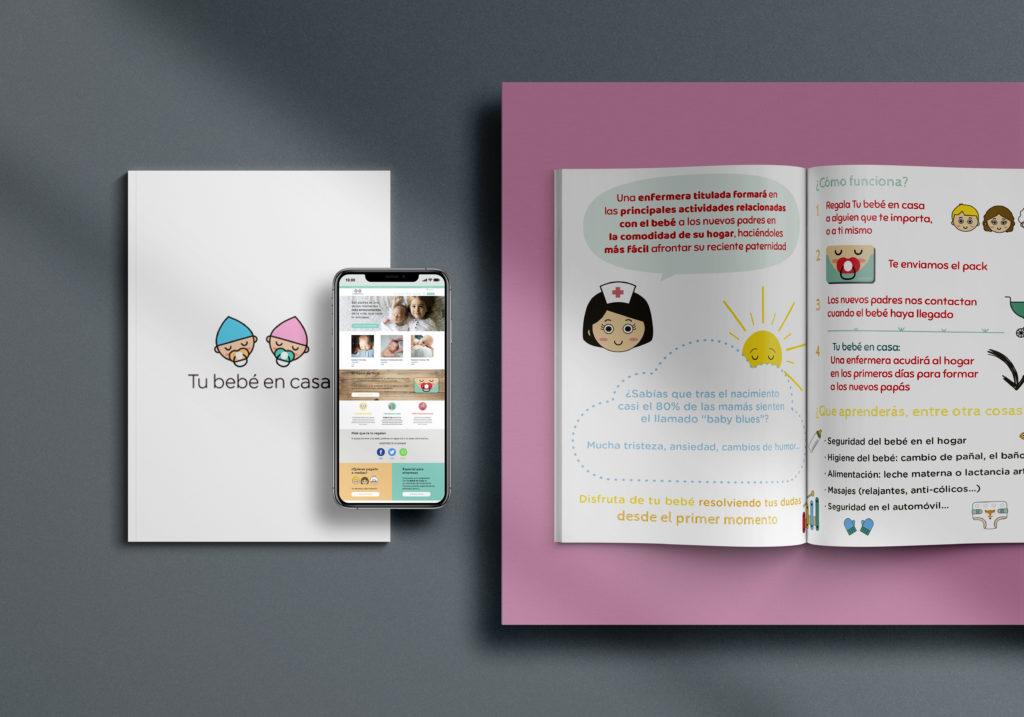 diseño folleto bebe en casa